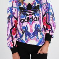"""Adidas"" Women Leisure Top Sweater Pullover"