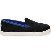 TOMS Black Canvas Youth Avalon Sneakers Black