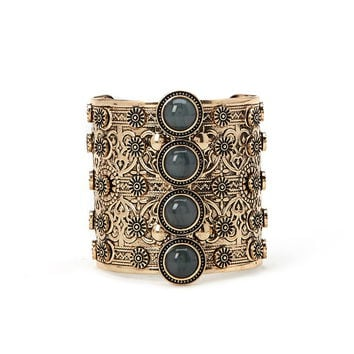 Faux Stone Etched Cuff | Forever 21 - 1000205751