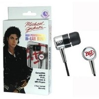 Michael Jackson BAD Earphones - Official Merchandise: Amazon.co.uk: Electronics