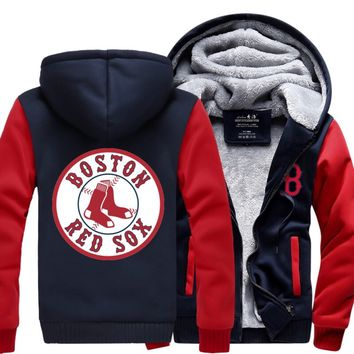 [50% OFF !!] EXCLUSIVE BOSTON RED SOX HOODIE JACKET - FREE SHIPPING