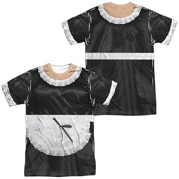 French Maid Halloween Costume T-shirt Front & Back