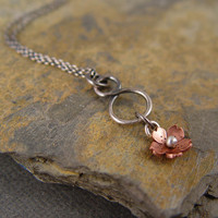 Cherry Blossom Infinity Necklace Simple Jewelry by HapaGirls