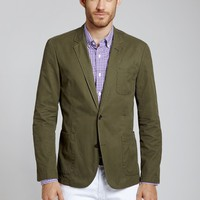 The Washed Chino Blazer - Forest Green