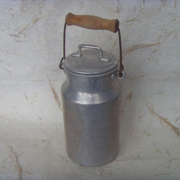 Vintage Aluminium Milk Can With A Lid - Made in USSR in 1970s