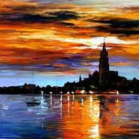 THE SKY OF SPAIN — PALETTE KNIFE Oil Painting On Canvas By Leonid Afremov - Size 36x30. 10% discount coupon - deviantart10off