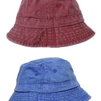 DALIX Bucket Hat Washed Cotton Fishing or Golfing Medium to Large Size (Comes in 2 Colors)