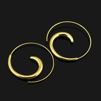Swirling Hoop Earrings