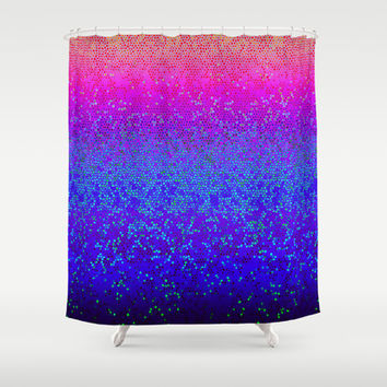 Glitter Star Dust G248 Shower Curtain by MedusArt