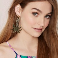 Vera Xane Paradise City Palm Tree Earrings