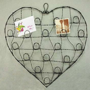 Wire Heart Card Holder