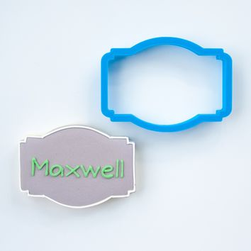 The Maxwell Plaque Cookie Cutter