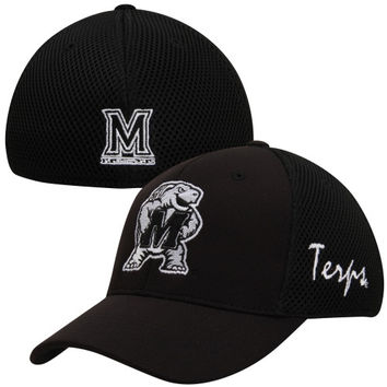 Top of the World Maryland Terrapins Fairway 1FIT Hat - Black