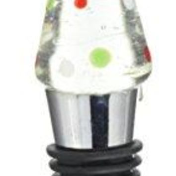 Pavilion Gift Company Holiday Hoopla Reindeer Wine Bottle Stopper White