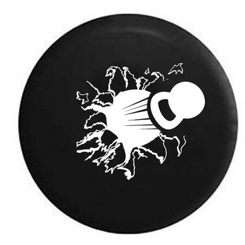 Kettlebell Crossfit Workout Ripping Through RV Camper Jeep Spare Tire Cover