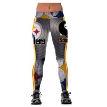 Football Team Pittsburgh Steelers 3D Printed Workout Leggings For Joggers Fitness Legging High Waist Elastic Gymnasium Leggins