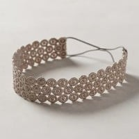 Eyelet Headband by Anthropologie Grey One Size Hair