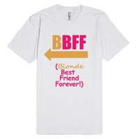 Blonde BFF (Tee - Right Arrow)-Unisex White T-Shirt