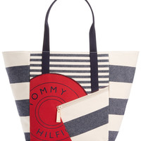 Tommy Hilfiger Sporty Rugby Stripe Tote