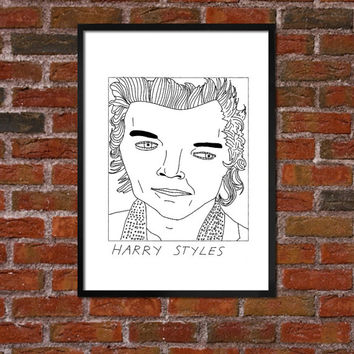 Badly Drawn Harry Styles - One Direction - Poster
