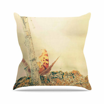 "Sylvia Coomes ""Monarch Butterfly"" Photography Nature Outdoor Throw Pillow"