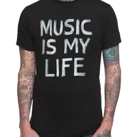 Music Is My Life Slim-Fit T-Shirt