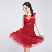 Eugen Yarn Decals Ladylike Dress Dress