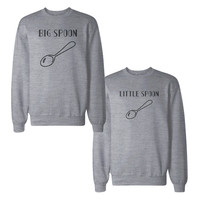 Big Spoon And Little Spoon Couple Sweatshirts Matching Sweat Shirts