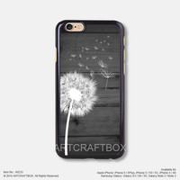Dandelion on black wood iPhone 6 6Plus case iPhone 5s case iPhone 5C case iPhone 4 4S case Samsung galaxy Note 2 Note 3 Note 4 S3 S4 S5 case 233