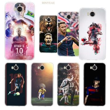 BINYEAE Soccer player Neymar 10 Case Cover for Huawei Y7 Y6 Y9 Y5 Y3 2017 2018 Prime Pro honor 7S 7C 7A Pro Silicone TPU Soft