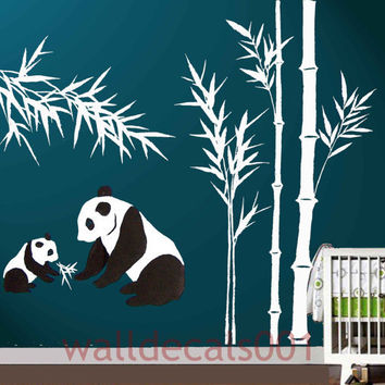 Kids Wall Decals Wall Sticker panda Decalspanda by walldecals001