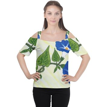 Morning Glory Cutout Shoulder Tee