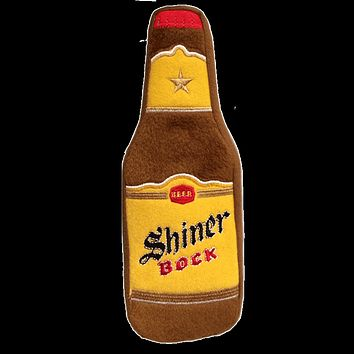Shiner Bock Bottle Dog Toy with Squeaker