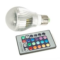 Top Race® 9W E27 LED RGB Light Colorful Bulb Lamp + Remote Control
