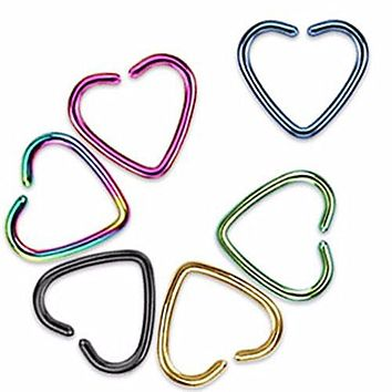 Heart Shaped 316L Surgical Steel 16g 18g WildKlass Cartilage Earring