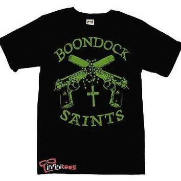 Boondock Saints Guns and Rosary Officially Licensed Adult T-Shirt S-2XL