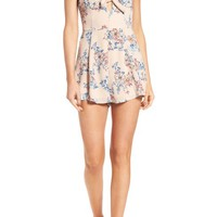 Lush Tie Front Romper | Nordstrom