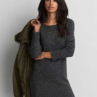 AEO Raglan Sweater Dress, Gray Heather