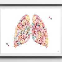 Human Lungs watercolor print the lungs poster medical art illustration anatomy art lungs abstract anatomical lungs print human body art gift