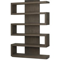 Brownstone Furniture Harrison Driftwood Bookcase