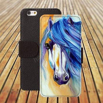 iphone 5 5s case dream watercolor horses iphone 4/4s iPhone 6 6 Plus iphone 5C Wallet Case,iPhone 5 Case,Cover,Cases colorful pattern L392