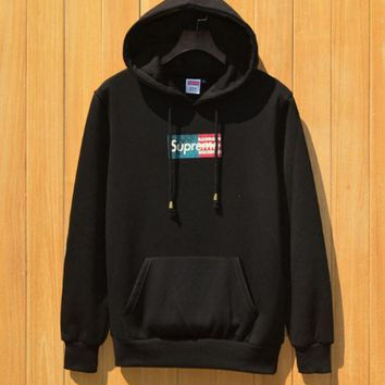 SUPREME Flaxen Flag Hooded Hooded Sweater Hip-Hop Skateboard Hip-Hop Harajuku Hoodie M