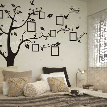 Wall Stickers Home Decor Family Picture Photo Frame Tree PVC Decals