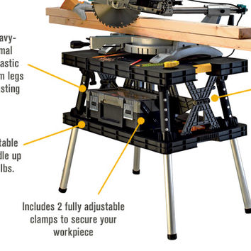 Keter Folding Work Table, 33 1/2in.L x 21 3/4in.W x 29 3/4in.H, Model #17182239 | Work Tables| Northern Tool + Equipment