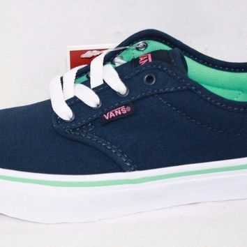 Vans Atwood Youth Girls Causal Canvas Shoe (Dress Blue)