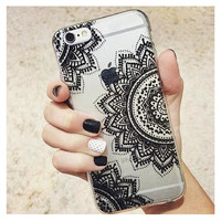 Boho Henna Flower Mandala Case for iPhone 5 5s, 6 6s Plus