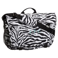 Gear-Up Zebra Black Messenger Bag