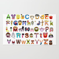 Sesame Street Alphabet Rug by Mike Boon