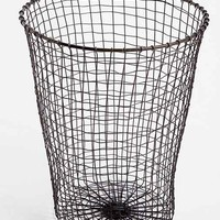 Woven Wire Trashcan- Silver One