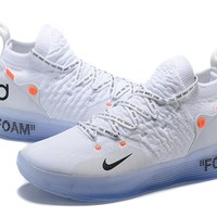 Mens Kevin Durant KD 11 Off White Basketball Shoes